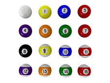 Free Billiard Balls Royalty Free Stock Images - 10194769