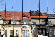 Free Building Reflection In Mirrors And Deformity Stock Photography - 10195042