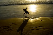 Free Sunset Surfer Royalty Free Stock Image - 10195226