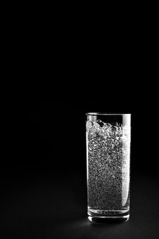 Free Glass Of Mineral Water Royalty Free Stock Photo - 10196725