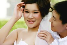 Free Chinese Couple Royalty Free Stock Photography - 10196877