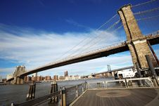 Free Classical NY - View To Brooklyn Bridge Stock Image - 10196911