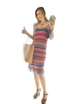 Free Happy Cute Young Woman Shopping Stock Photos - 10197103
