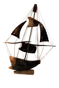 The Sailing Boat Model Stock Photo