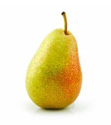 Free Tasty Ripe Green Pear Isolated Royalty Free Stock Photo - 10198995