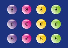 Free Colorful Money Buttons Royalty Free Stock Photography - 10199457