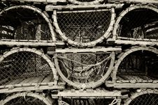 Free Old Lobster Traps Stock Photography - 10199462