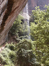 Free Zion National Park Emerald Pool Waterfall 2 Stock Photos - 1022623
