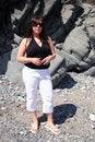 Free Woman On Beach Stock Image - 1025391