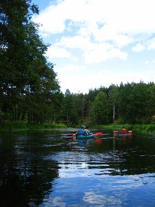 Free Kayaking Royalty Free Stock Photo - 1021245