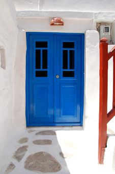 Free Doorway In Cyclades Stock Photography - 1022452