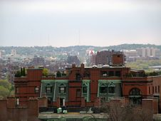 Free Boston Brownstone Skyline Royalty Free Stock Image - 1023146