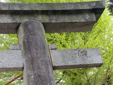 Free Stone Temple Gate-detail Royalty Free Stock Photos - 1023258