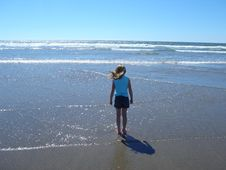 Free Little Girl And The Beach Stock Photo - 1023800