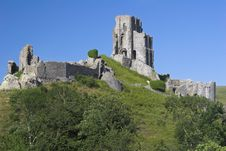 Free Castle On Hill Royalty Free Stock Image - 1024276