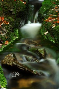 Free Autumn Stream In Giant Mountains Royalty Free Stock Photo - 1024645