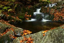 Free Autumn Stream In Giant Mountains Royalty Free Stock Photos - 1025078