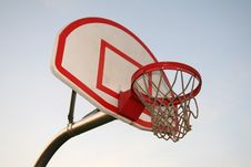 Free Basketball Hoop At School Royalty Free Stock Images - 1025219