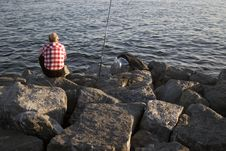 Fishing On The Marmare Sea Stock Photo