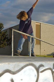 Boy At The Skate Park Royalty Free Stock Image
