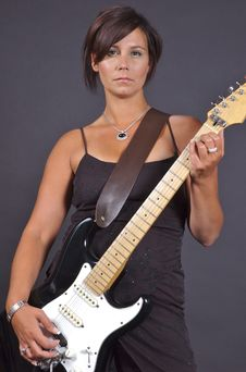 Free Guitar Woman Royalty Free Stock Images - 1027219