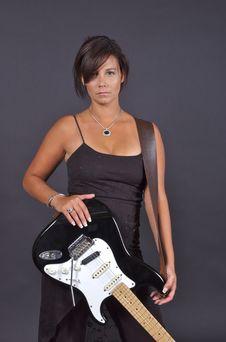 Free Guitar Woman Stock Photo - 1027560