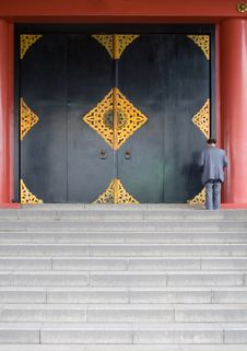 Temple Doors Stock Images