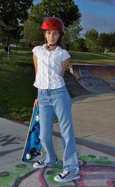 Free Girl At The Skate Park Stock Photos - 1027623