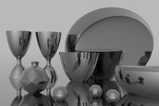Free Silver Plate Stock Image - 1028381