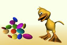 Free Duck And Candy Royalty Free Stock Photography - 1028657