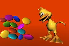 Free Duck And Candy Royalty Free Stock Photos - 1028688