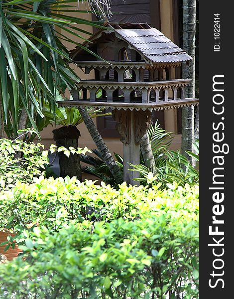 Asian bird house