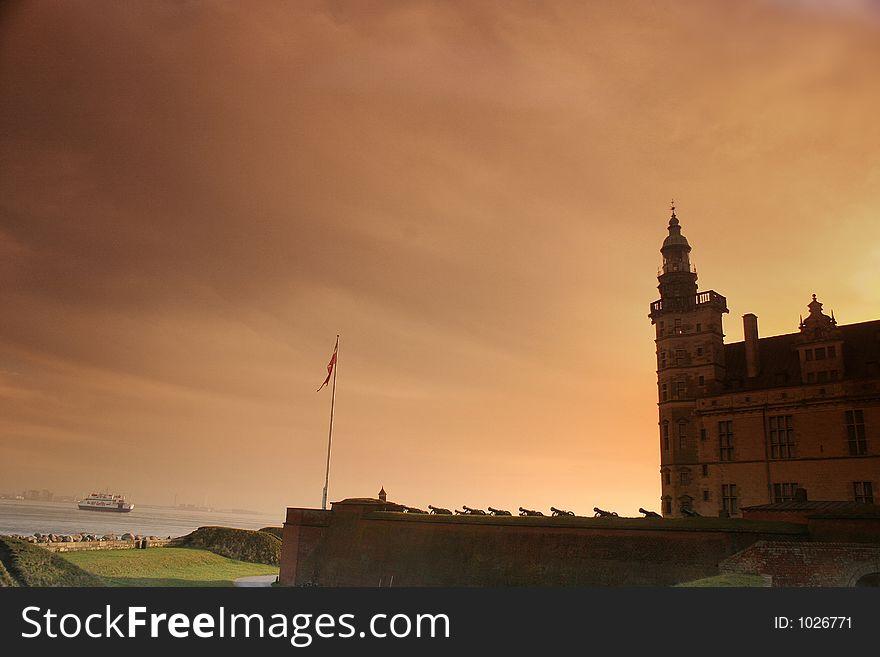 Kronborg castel, silhouette
