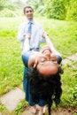 Free Happy Joyful Couple Having Fun Outdoor Stock Images - 10201754