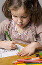 Free Girl Drawing Royalty Free Stock Photo - 10208725