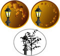 Free Lamppost In A Leaves Royalty Free Stock Image - 10209546