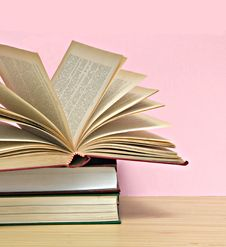 Free Open Book And Pile Of Books Stock Photo - 10200070