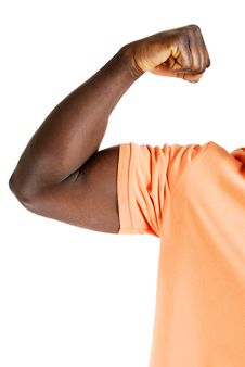 Free Young Man Showing Biceps Royalty Free Stock Photo - 10200085