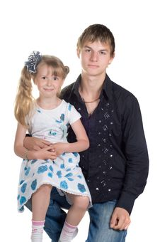Brother And Sister Royalty Free Stock Photos