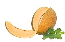 Free Melon And Its Segment Royalty Free Stock Photography - 10200297