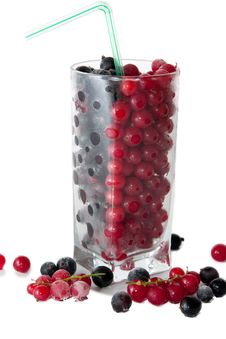 Free Mix With Frozen Red And Black Currants Royalty Free Stock Photography - 10201117