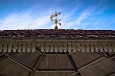 Weather Vane On Roof Stock Photography