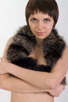Free Perky Girl Hugs You And Holds Fur Stock Image - 10201861