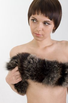 Free Perky Girl Hugs You And Holds Fur Royalty Free Stock Images - 10201899