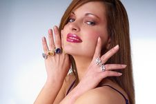 Free Beautiful Young Woman With Luxury Jewelry Royalty Free Stock Photo - 10202055