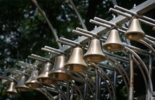 Free Singing Bells In A Row. Stock Images - 10202484