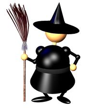Witch Clipart Stock Photo