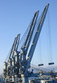 Free Cranes In Dockyard Stock Image - 10203631