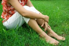 Free Woman Relaxing In Nature Stock Photography - 10204002