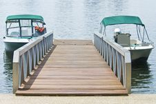 Boats At The Dock Stock Image